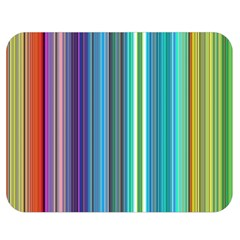 Color Stripes Double Sided Flano Blanket (Medium)