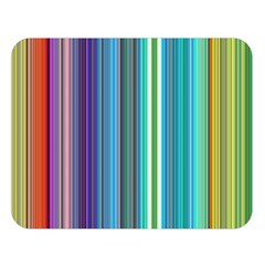 Color Stripes Double Sided Flano Blanket (Large)