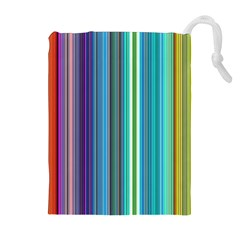 Color Stripes Drawstring Pouches (Extra Large)