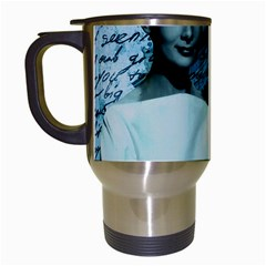 Audrey Hepburn Travel Mugs (White)