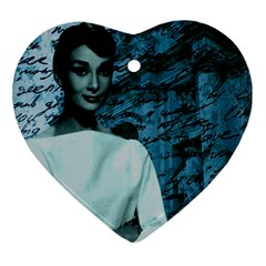 Audrey Hepburn Heart Ornament (Two Sides)