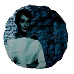 Audrey Hepburn Large 18  Premium Round Cushions