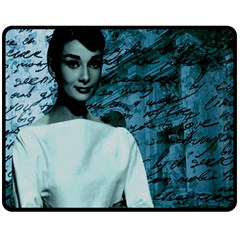 Audrey Hepburn Double Sided Fleece Blanket (Medium)