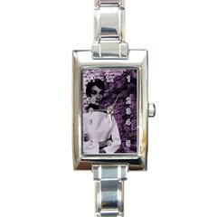 Audrey Hepburn Rectangle Italian Charm Watch