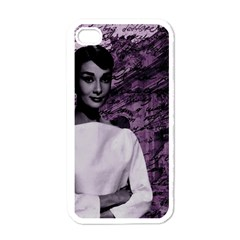 Audrey Hepburn Apple iPhone 4 Case (White)