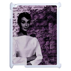 Audrey Hepburn Apple iPad 2 Case (White)