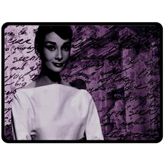 Audrey Hepburn Double Sided Fleece Blanket (Large)