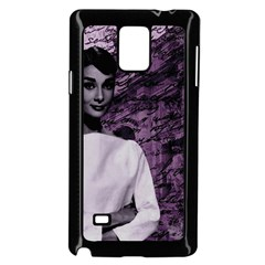 Audrey Hepburn Samsung Galaxy Note 4 Case (Black)