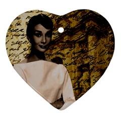 Audrey Hepburn Ornament (Heart)