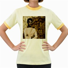 Audrey Hepburn Women s Fitted Ringer T-Shirts