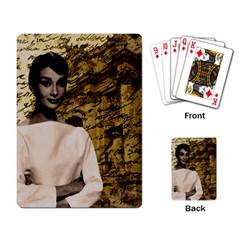 Audrey Hepburn Playing Card