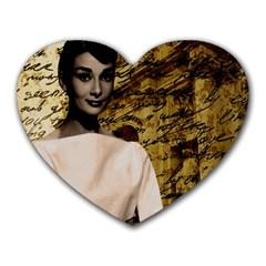 Audrey Hepburn Heart Mousepads