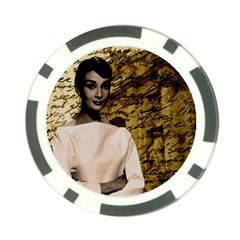 Audrey Hepburn Poker Chip Card Guard