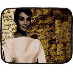 Audrey Hepburn Fleece Blanket (Mini)