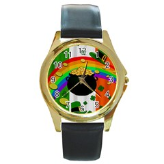 Pot of gold Round Gold Metal Watch
