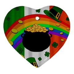 Pot of gold Heart Ornament (Two Sides)