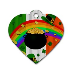 Pot of gold Dog Tag Heart (One Side)