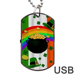 Pot of gold Dog Tag USB Flash (Two Sides)