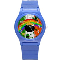 Pot of gold Round Plastic Sport Watch (S)