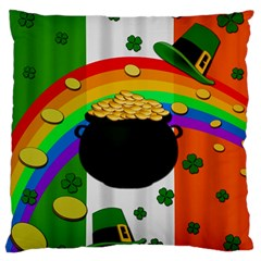 Pot of gold Large Flano Cushion Case (Two Sides)