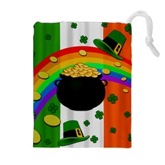 Pot of gold Drawstring Pouches (Extra Large)