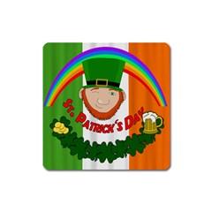 St. Patricks day  Square Magnet