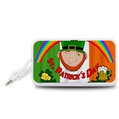 St. Patricks day  Portable Speaker (White)