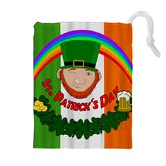 St. Patricks day  Drawstring Pouches (Extra Large)