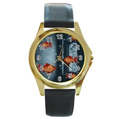 Natural habitat Round Gold Metal Watch