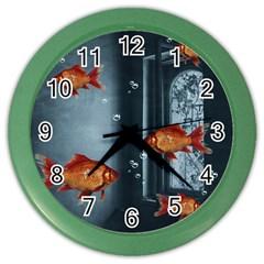 Natural habitat Color Wall Clocks