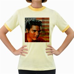 Elvis Presley Women s Fitted Ringer T-Shirts