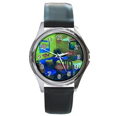 Natural habitat Round Metal Watch