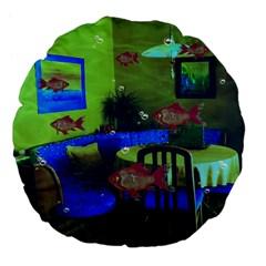 Natural habitat Large 18  Premium Flano Round Cushions