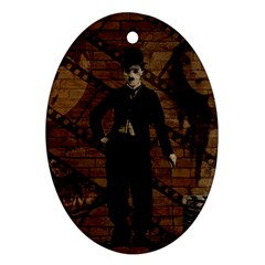Charlie Chaplin  Oval Ornament (Two Sides)