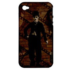 Charlie Chaplin  Apple iPhone 4/4S Hardshell Case (PC+Silicone)