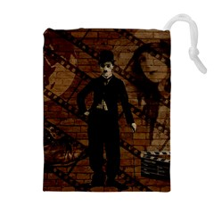 Charlie Chaplin  Drawstring Pouches (Extra Large)