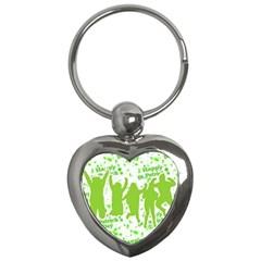 Saint Patrick Motif Key Chains (Heart)