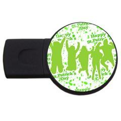 Saint Patrick Motif USB Flash Drive Round (1 GB)