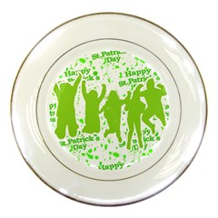 Saint Patrick Motif Porcelain Plates