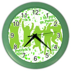 Saint Patrick Motif Color Wall Clocks