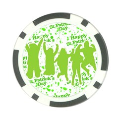 Saint Patrick Motif Poker Chip Card Guard (10 pack)