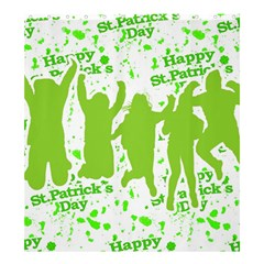 Saint Patrick Motif Shower Curtain 66  x 72  (Large)