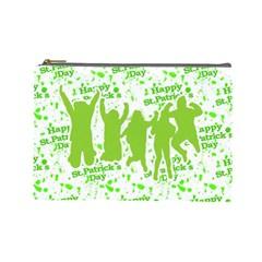 Saint Patrick Motif Cosmetic Bag (Large)