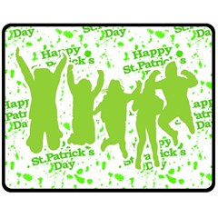 Saint Patrick Motif Fleece Blanket (Medium)