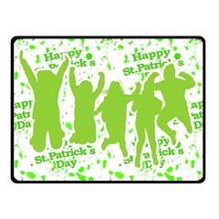 Saint Patrick Motif Fleece Blanket (Small)