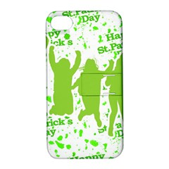 Saint Patrick Motif Apple iPhone 4/4S Hardshell Case with Stand