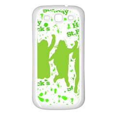 Saint Patrick Motif Samsung Galaxy S3 Back Case (White)