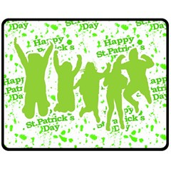 Saint Patrick Motif Double Sided Fleece Blanket (Medium)