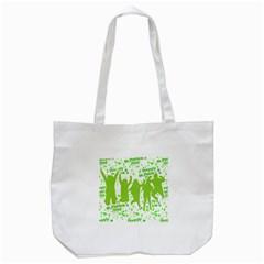 Saint Patrick Motif Tote Bag (White)