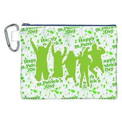 Saint Patrick Motif Canvas Cosmetic Bag (XXL)